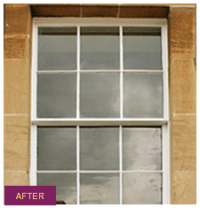 picture after sash & case window renovation in Edinburgh